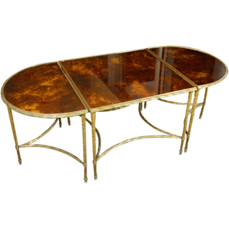 Bagues Gilt Bronze And Eglomise Glass Coffee Table At 1stdibs