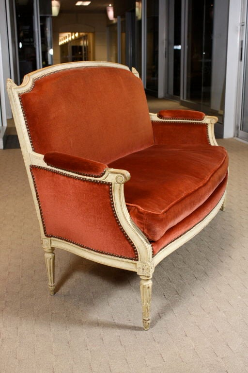 french painted louis xvi period canape at 1stdibs. Black Bedroom Furniture Sets. Home Design Ideas