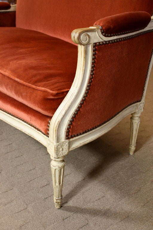 French Painted Louis XVI Period Canape 5