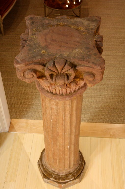 Massive Pair of French Carved Stone Columns For Sale 1