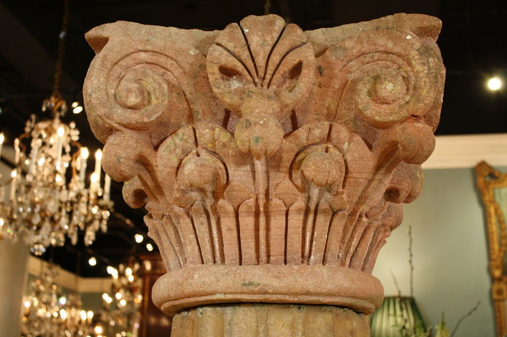Massive Pair of French Carved Stone Columns For Sale 3
