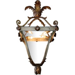 Italian Iron and Tole Leaf Lantern
