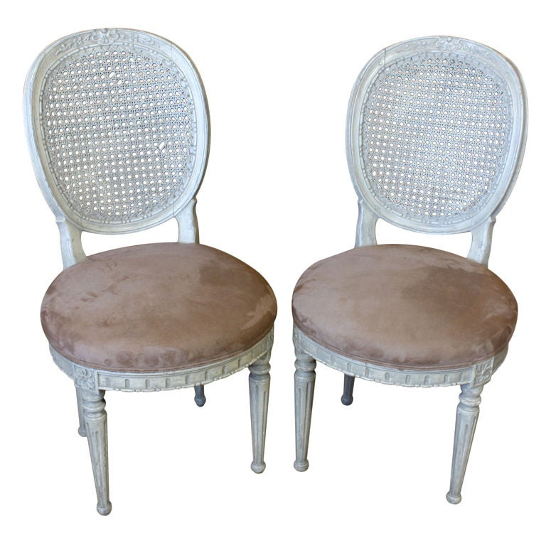 Pair of Louis XVI Style Caned Boudoir Chairs 1Pair of Louis XVI Style Caned Boudoir Chairs For Sale at 1stdibs. Louis Xvi Style Furniture For Sale. Home Design Ideas