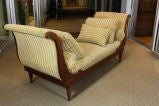 French Directoire Style Mahogany Recamier or Day Bed image 5