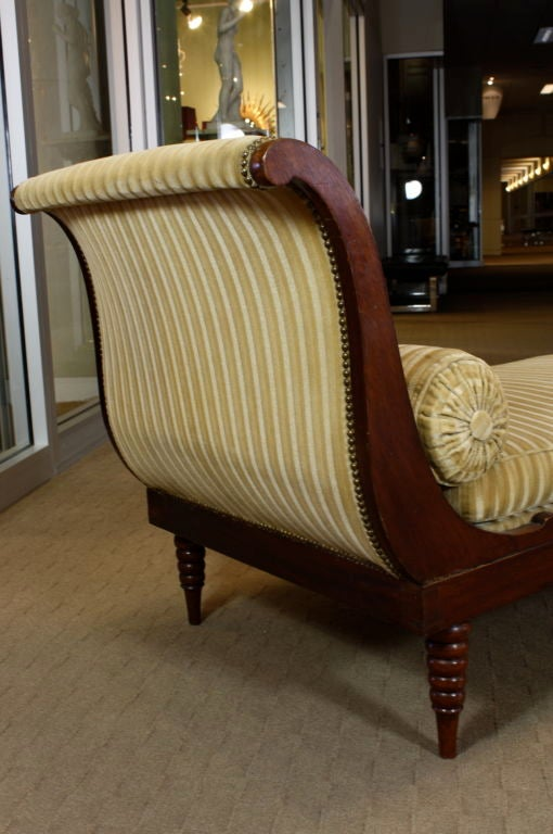 French Directoire Style Mahogany Recamier or Day Bed 6