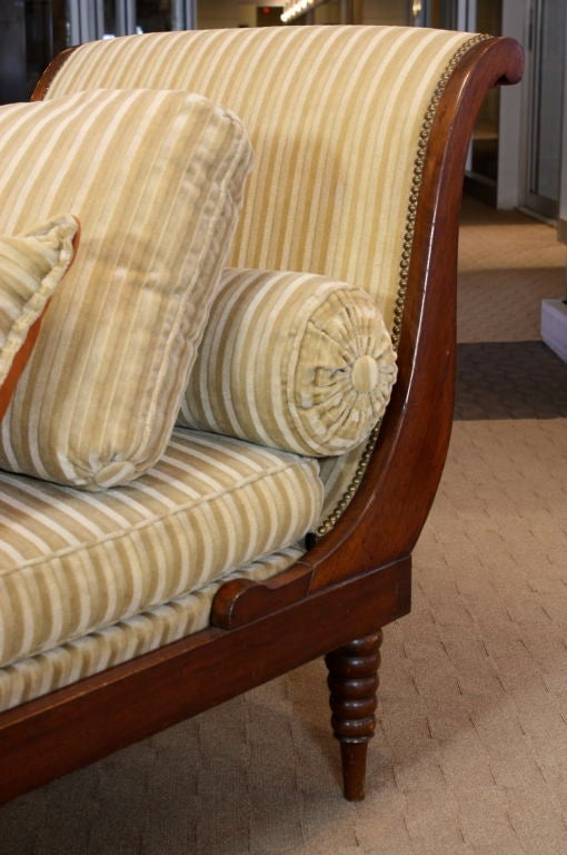 French Directoire Style Mahogany Recamier or Day Bed 7