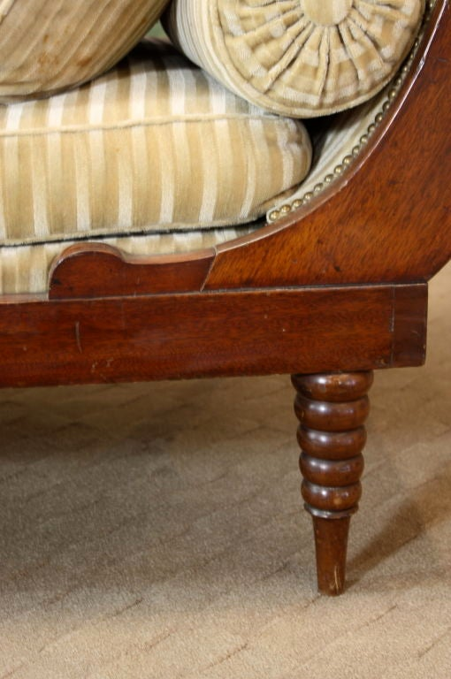French Directoire Style Mahogany Recamier or Day Bed 8