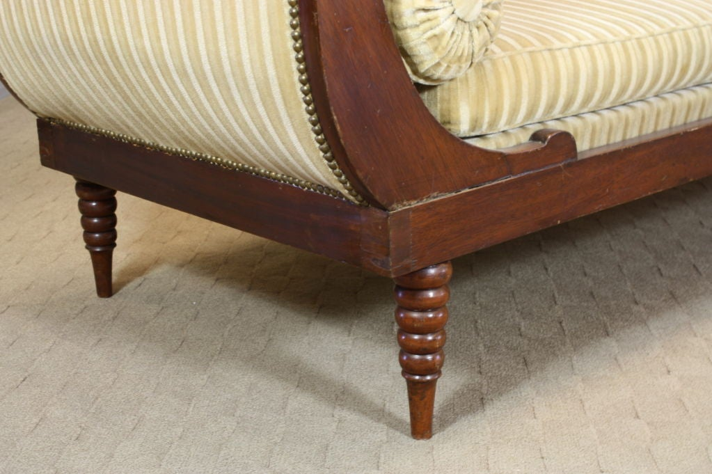 French Directoire Style Mahogany Recamier or Day Bed 9