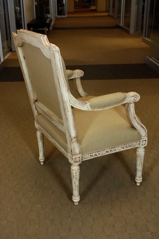 Pair of French, Louis XVI Style Fauteuils For Sale 3