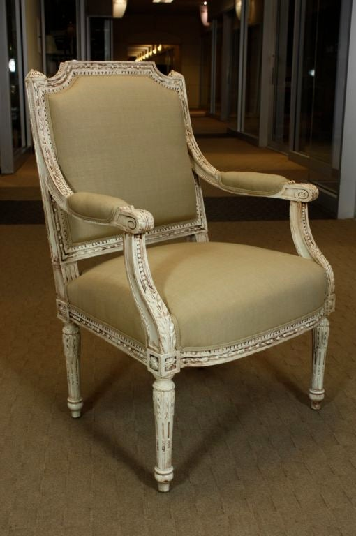 Pair of French, Louis XVI Style Fauteuils In Good Condition For Sale In Pembroke, MA