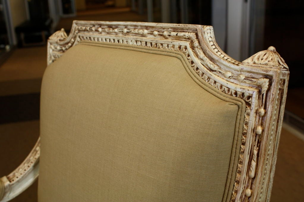 Pair of French, Louis XVI Style Fauteuils For Sale 2