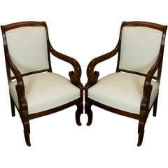 Pair of French Restauration Period Fauteuils