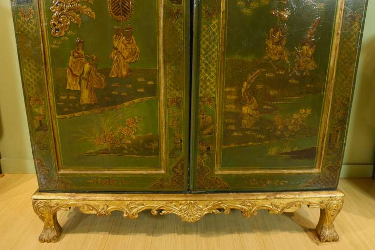 Extraordinary English Chinoiserie Panelled Armoire 8