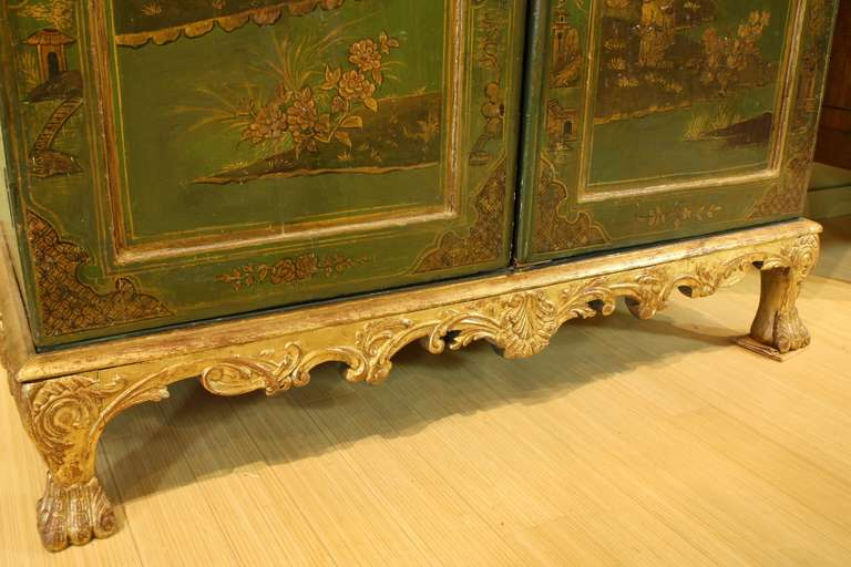 Extraordinary English Chinoiserie Panelled Armoire 9