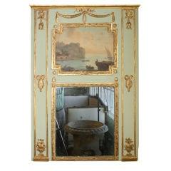 French Louis XVI Period Trumeau with Marine Scene