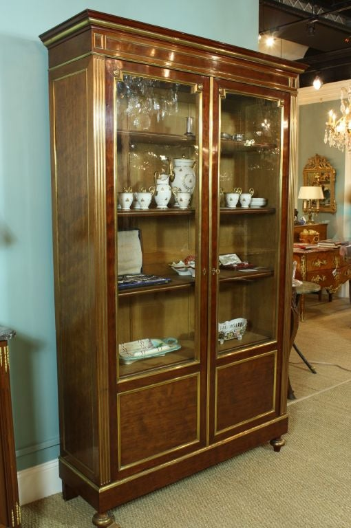 french louis xvi style mahogany bookcase bibliotheque at. Black Bedroom Furniture Sets. Home Design Ideas