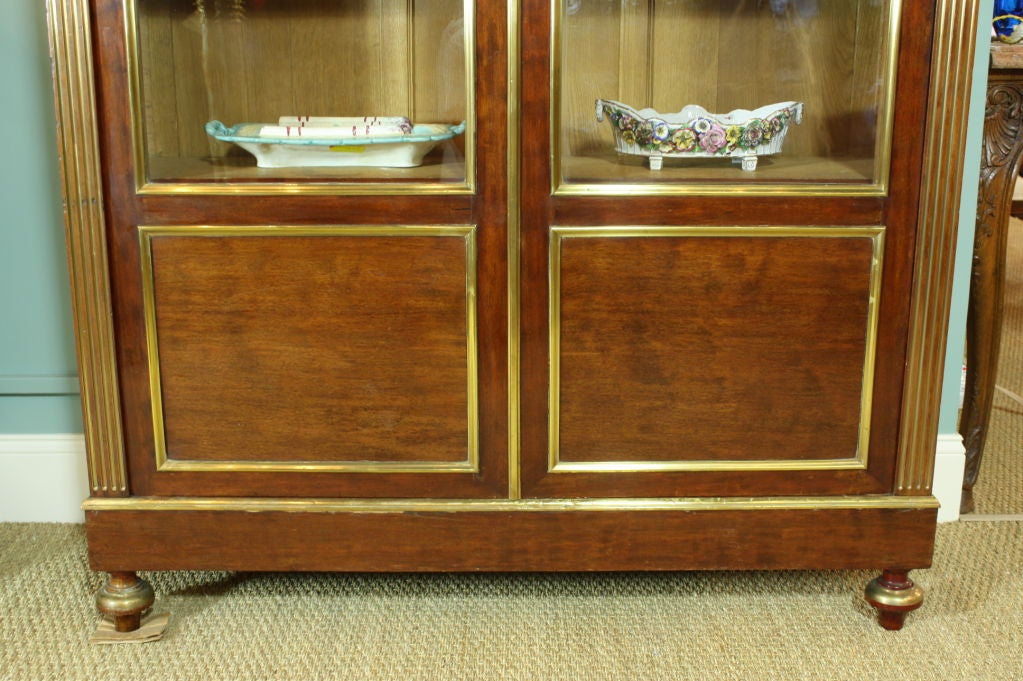 French Louis XVI Style Mahogany Bookcase Bibliotheque For Sale 1