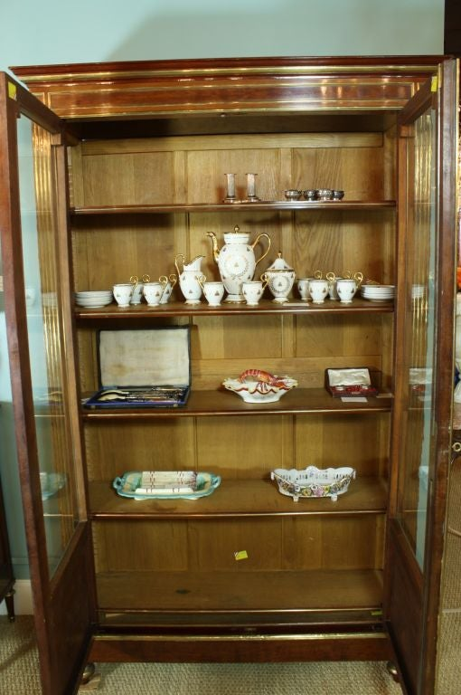 French Louis XVI Style Mahogany Bookcase Bibliotheque For Sale 2