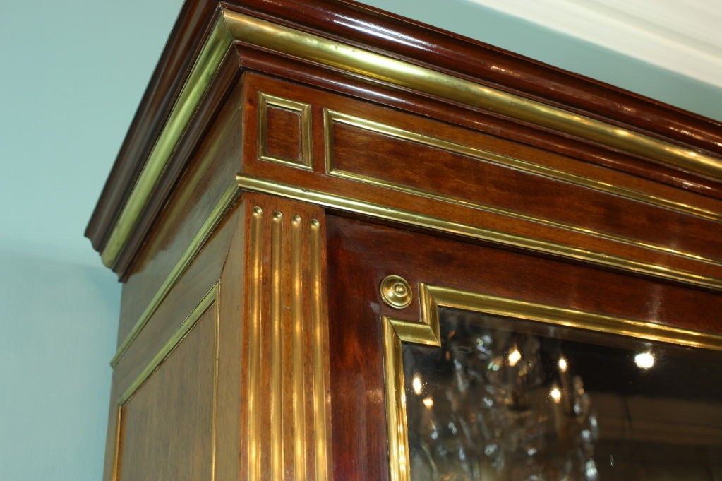French Louis XVI Style Mahogany Bookcase Bibliotheque For Sale 3