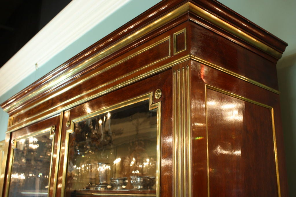 French Louis XVI Style Mahogany Bookcase Bibliotheque For Sale 4