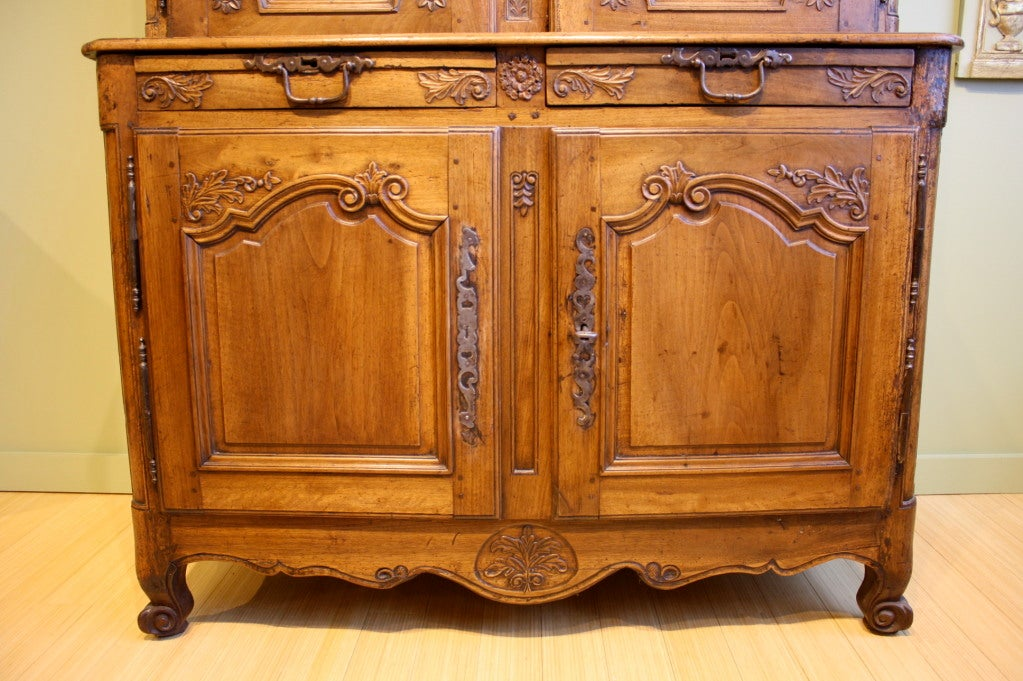French Louis XV Period Buffet à Deux Corps For Sale