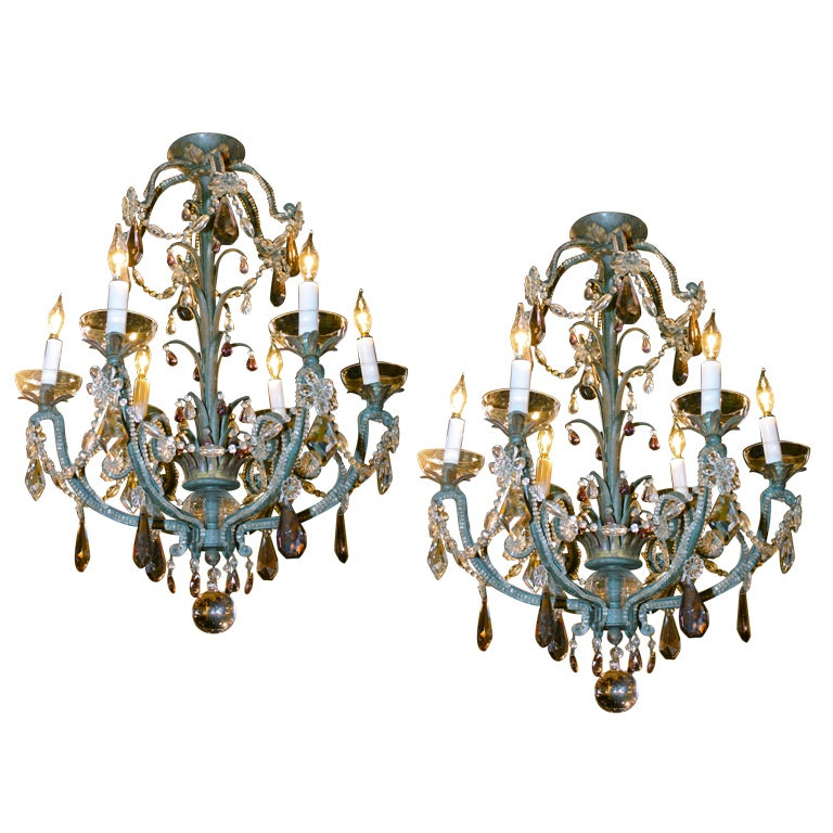 Spectacular Pair Of Maison Bagu 232 S Rock Crystal Sconces For