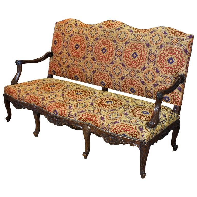 French Regence Style Settee For Sale