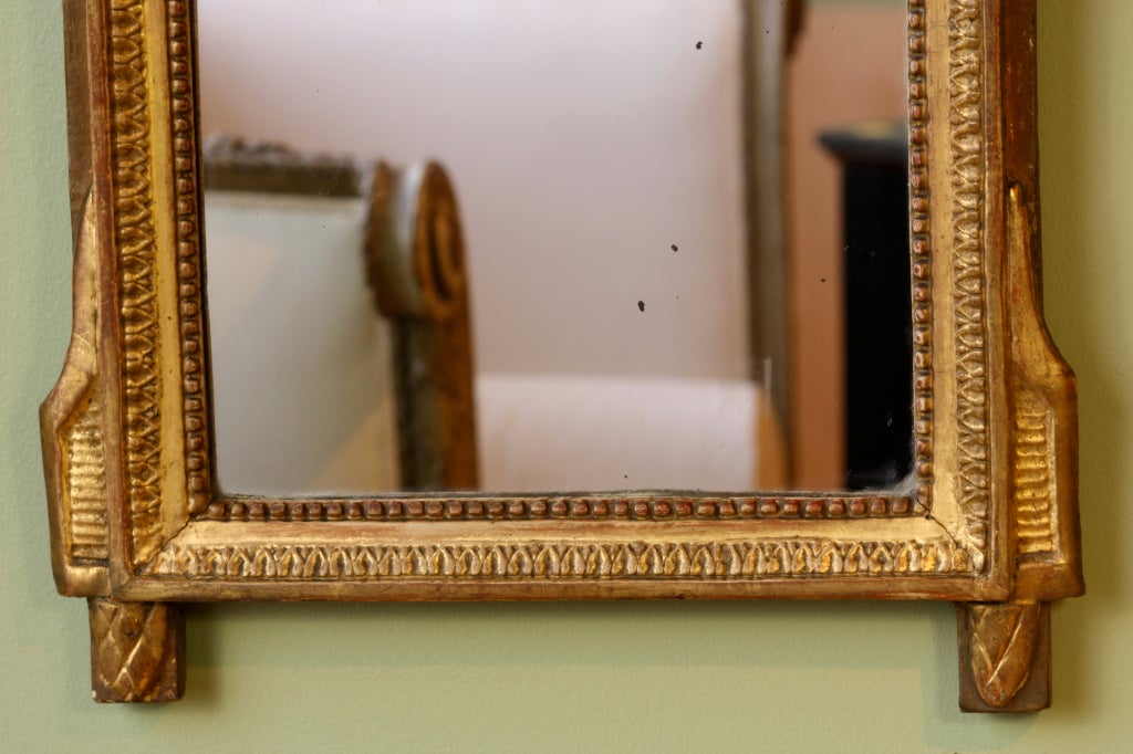 French Directoire Period Giltwood Trumeau Mirror For Sale 3