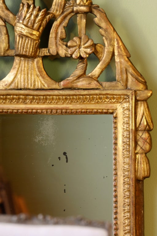 French Directoire Period Giltwood Trumeau Mirror For Sale 4