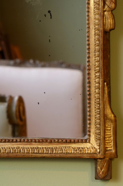 French Directoire Period Giltwood Trumeau Mirror For Sale 5