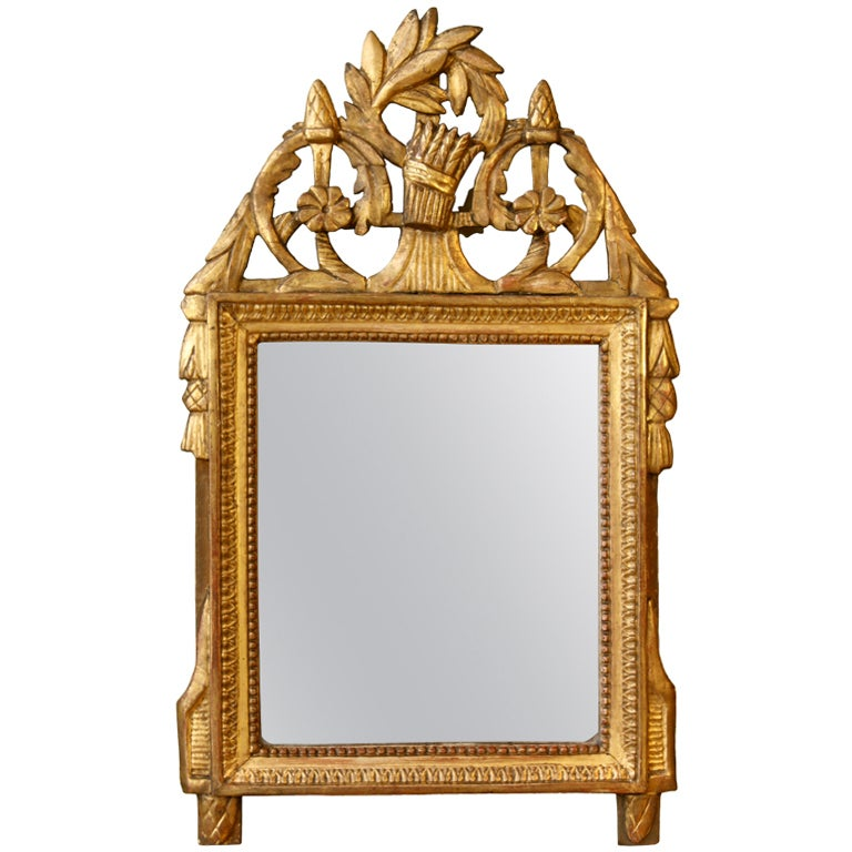 French Directoire Period Giltwood Trumeau Mirror For Sale