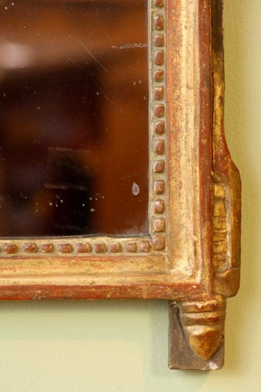 Petit Louis XVI Period Giltwood Trumeau Mirror For Sale 1