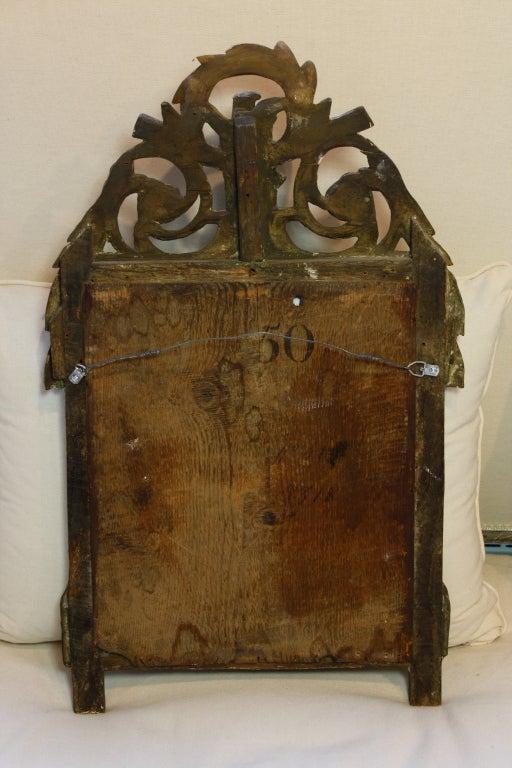 Petit Louis XVI Period Giltwood Trumeau Mirror For Sale 2