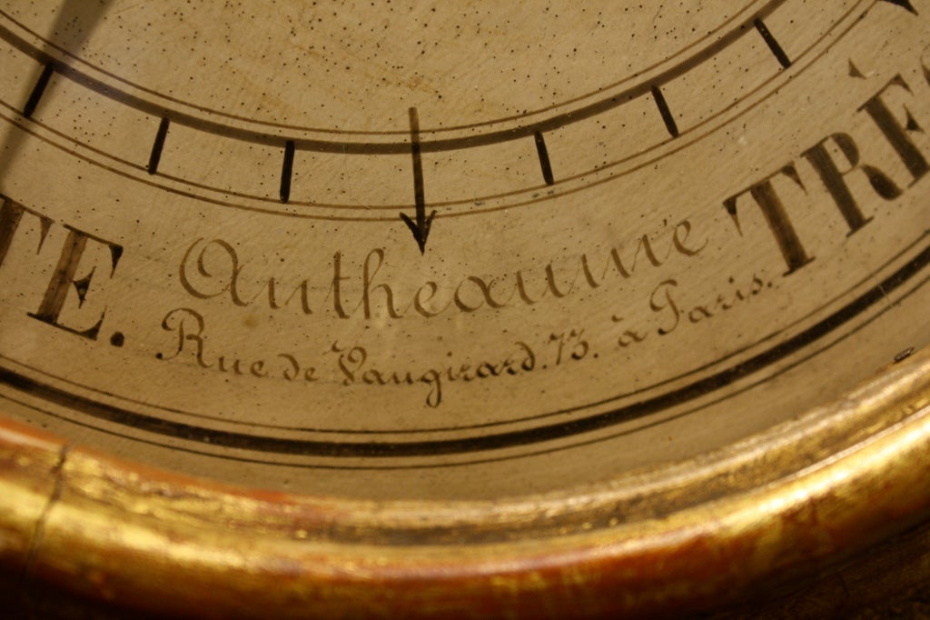 18th Century and Earlier Louis XV Period Gilded Barometer with Thermometer For Sale