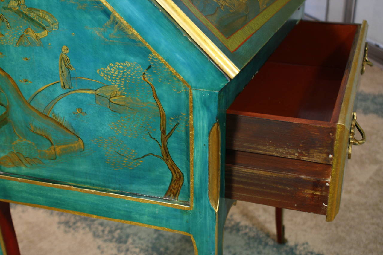 Louis XV Style Chinoiserie Slant-Top Desk For Sale 2
