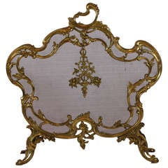 Louis XV Style Gilt-Bronze Firescreen