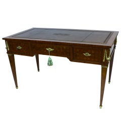 French Louis XVI Style Parquetry Desk