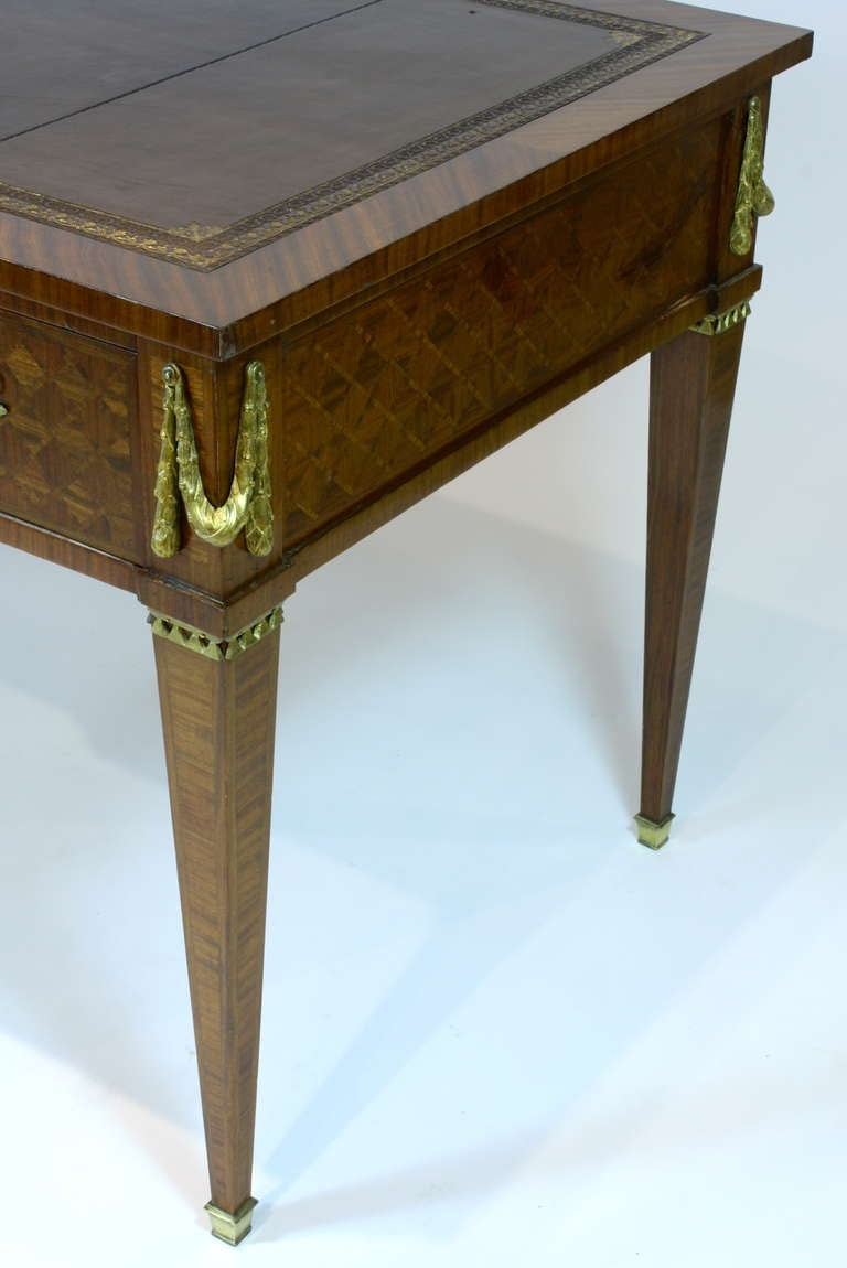French Louis XVI Style Parquetry Desk For Sale 4