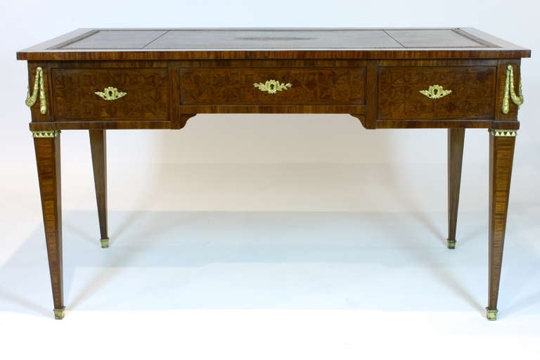 French Louis XVI Style Parquetry Desk For Sale 3