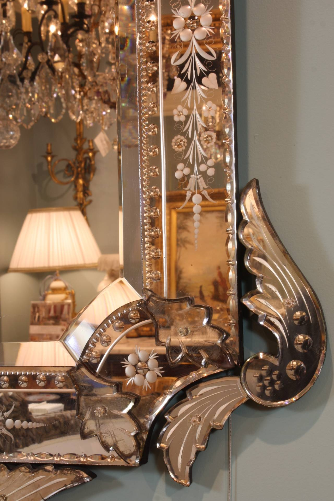 Ornate Venetian Rococo Mirror For Sale 2
