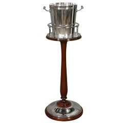 Rare Christofle Champagne Bucket on Stand