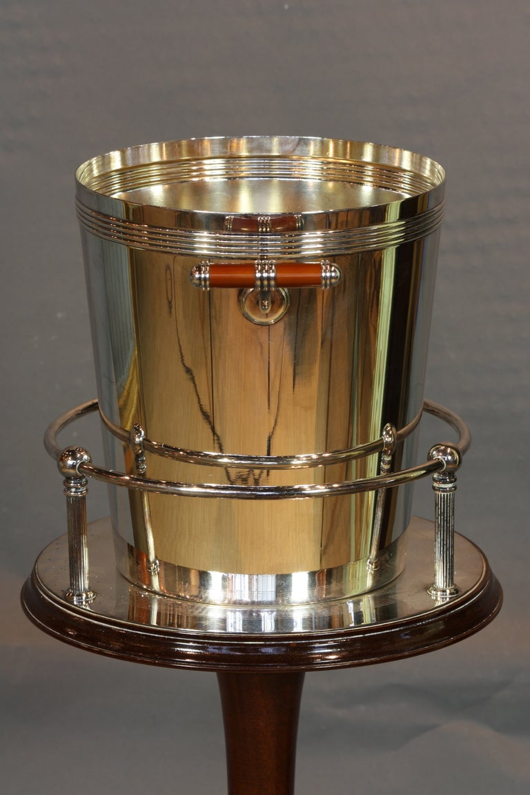 Rare Christofle Champagne Bucket On Stand At 1stdibs