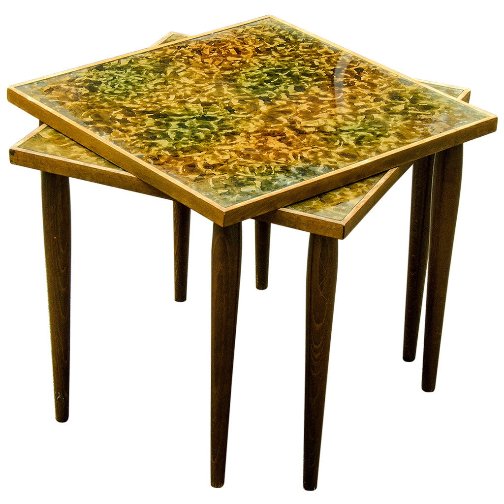 Danish Modern Stacking Tables At 1stdibs