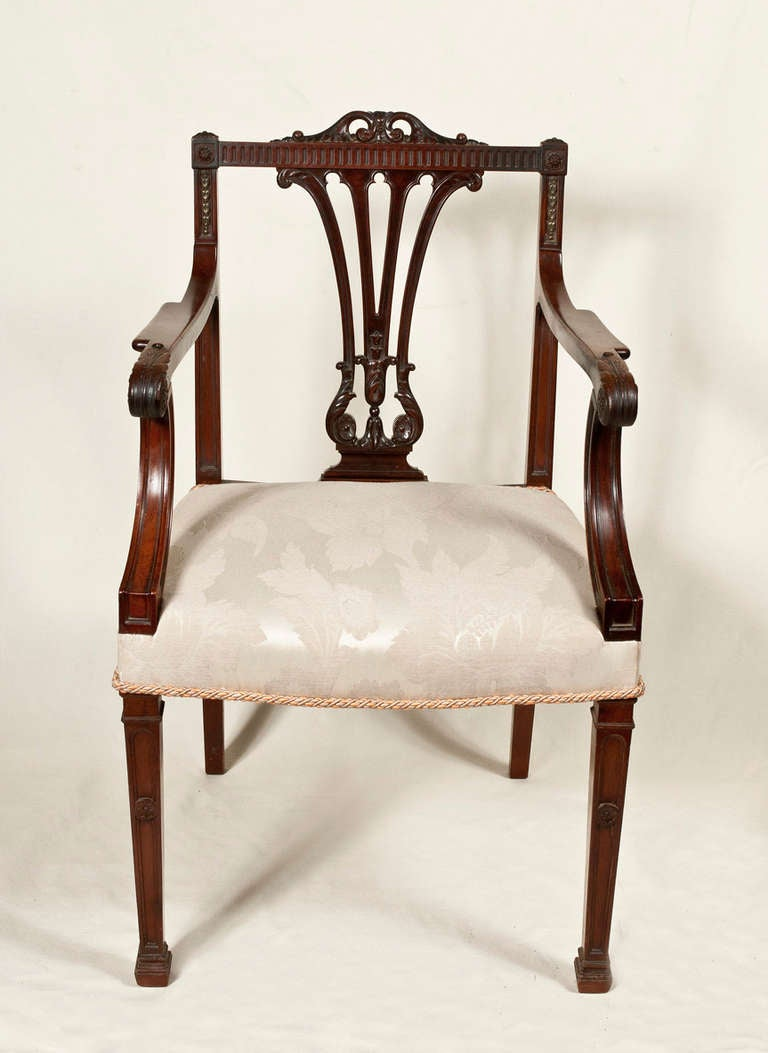 Georgian Style Dining Chairs Set Of Eight Image 4