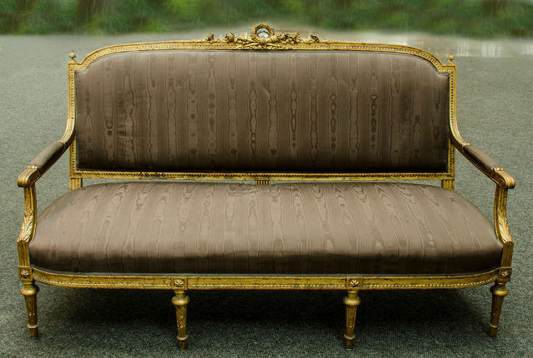 louis xvi style canap at 1stdibs. Black Bedroom Furniture Sets. Home Design Ideas