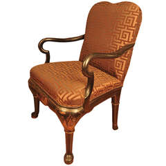Georgian Style Japanned Armchair