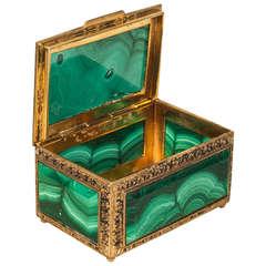 Malachite and Bronze Doré Box
