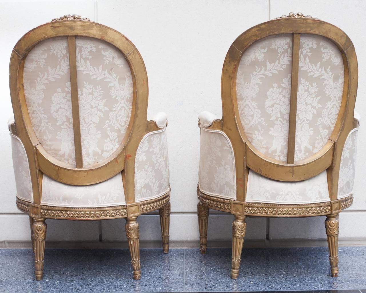 pair of bois dor louis xvi berg res at 1stdibs. Black Bedroom Furniture Sets. Home Design Ideas