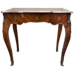 Antique Louis XV Rosewood Bureau Plat