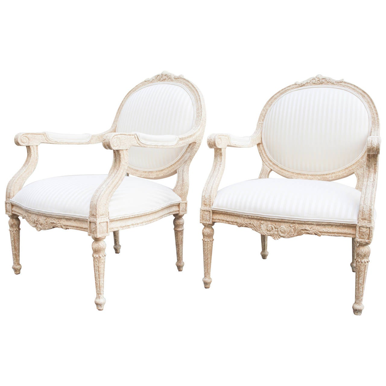 pair of louis xvi style marquise fauteuils for sale at 1stdibs. Black Bedroom Furniture Sets. Home Design Ideas